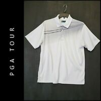 PGA Tour Mens Short Sleeve Casual Formal Golf Polo Shirt Size Large White