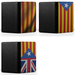 Spain Catalan Flag Spanish Passport Holder Faux Leather Cover Case