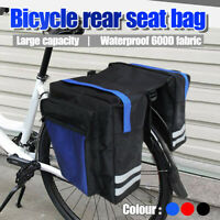 Cycling Bicycle Bike Rack Back Rear Seat Tail Carrier Trunk Double Pannier Bags