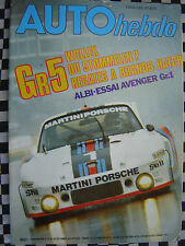 auto hebdo n°82 1977 / TOUR AUTO / BRANDS HATCH GR.5 / CHRYSLER AVENGER GR.1