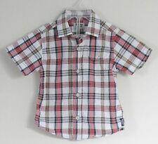 OSHKOSH B'GOSH Boy Size 18 Months Multi-Color Plaid Button Up Short Sleeve Shirt