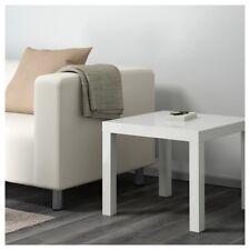 IKEA LACK High-gloss White SIDE COFFEE TABLE DESK LAMP BEDSIDE HOME LIVING