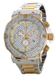 Aqua Master Men's Two-Tone Steel Chronograph Diamond Watch W#146