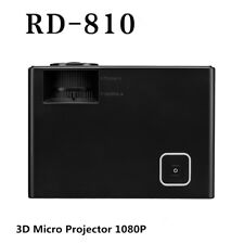 RD-810 Projector 3D Miniature Projector 1080P Mini Home HD Projection