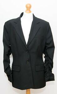 Zara Black Tailored Blazer Jacket Size XL BNWOT Ruched Sleeve