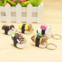 5X Mixed Sushi Cat Cute Pendant Keychain Keyrings Women Girl's Gifts For Handbag