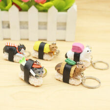 5X Mixed Sushi Cat Cute Pendant Keychain Keyrings Women Girl's Gifts For Handbag