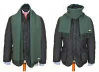 Mens Lacoste Chemise Vintage Wool Scarf Green 169CM