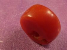 ANTIQUE NATURAL RED COLOR CORAL BEAD 9 BY 4.5 MM  VERY BRIGHT RED HUE