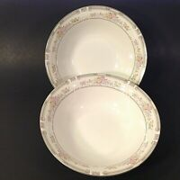 FABERWARE SOUTH HAMPTON SERVING BOWLS. SET OF 2.  9 1/8 INCHES. GOLD TRIM.  #223