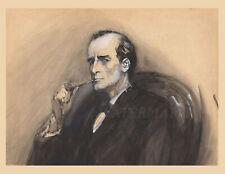 Sherlock Holmes portrait 1904 drawn by Sidney Paget