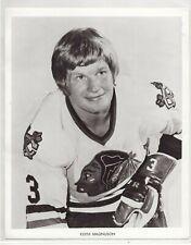 KEITH MAGNUSON 1970's CHICAGO BLACKHAWKS ORIGINAL TEAM ISSUE 8x10 NHL PHOTOGRAPH