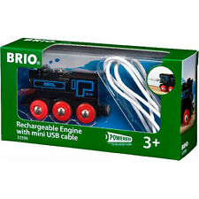 BRIO 33599 Motor Recargable Con Cable Mini USB Para Conjunto de Tren De Madera