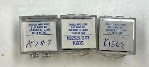 LOT OF 3 DANIELS DMC POSITIONER K60S K187 K156S INDUSTRIAL AERONAUTIC