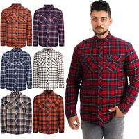 River Road Mens Padded Quilted Lined Shirt Lumberjack Fleece Jacket Flannel Work