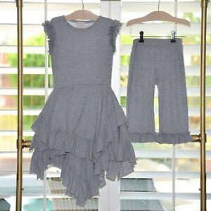 Lemon Loves Lime Girls Mermaid Dress & Capri Set Sizes 7