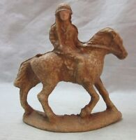 Vintage WWI Composition toy Calvary soldier, horse figure