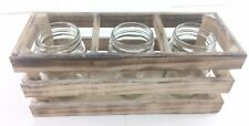Boho Mason Jar Decor Distressed Ivory Set of 3 Wedding  Tablescape Herb Garden