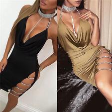 Women Bandage Bodycon Sleeveless Evening Party Cocktail Club Short Mini Dress MW