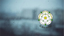 Yorkshire White Rose Internal revese printed Car Window Sticker Decal 70mm