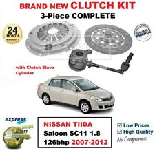 FOR NISSAN TIIDA Berlina SC11 1.8 126bhp 2007-2012 3PC CLUTCH KIT + CSC