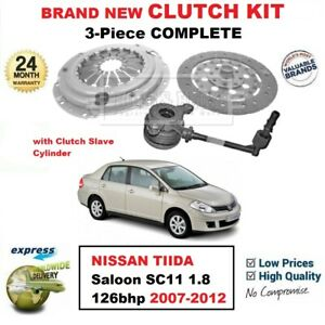 FOR NISSAN TIIDA Berlina SC11 1.8 126bhp 2007-2012 3PC CLUTCH KIT + CSC