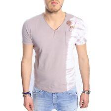 ANTONY MORATO T-shirt con collo V safari in fantasia MMKS00539 Tg S