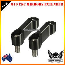 Black CNC 8 10mm Motorcycle Mirrors Mount Riser Extender Adaptor Kawasaki Suzuki