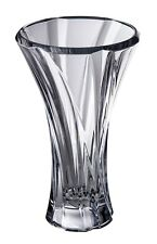 "Crystal Glass Vase 12"" Centerpiece Bud Vase Clear color Flower Bohemian Crystal"