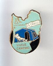 RARE PINS PIN'S .. TOURISME CAMPING CAR CARAVANE LA PRAISE LACANAU 33 ~BK