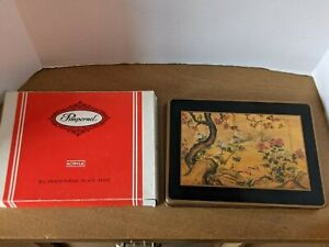 "Vintage 6 Pimpernel Chinese Screen Acrylic Cork Placemats 12"" x 9"" in Box"