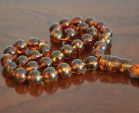 Baltic Amber 33 islamic prayer beads Misbaha Tasbih 42.5 g