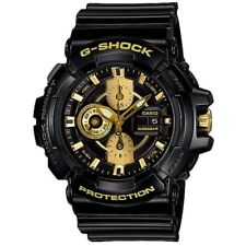 Casio G-Shock GAC100BR-1A Black Yellow Gold Analog Digital Watch GAC-100BR-1A