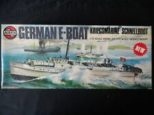 GERMAN E-BOAT:1975 AIRFIX 10280-1. 1/72 SCALE.COMPLETE INSTRUCTIONS/ORIGINAL BOX
