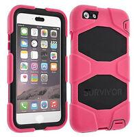 Rose/Black Griffin Case Cover for iPhone 6 Plus, 6S Plus-Survivor All Terrain