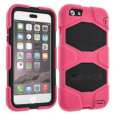 Rose/Black Griffin Case Cover for Apple iPhone 6/6S Plus-Survivor All Terrain