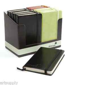 A6 Executive Soft Feel Notebook/3 Colours/160 Lined Pages/Fold Out Pocket/Ribbon