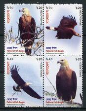Bangladesh 2018 MNH Pallas's Fish Eagle 4v Block Eagles Birds of Prey Stamps