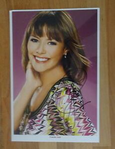 ORIGINAL Autogramm von Francine Jordi. pers. gesammelt u. 100 % ECHT. GROSSFOTO