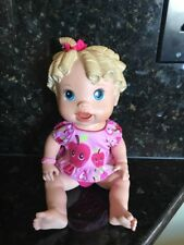 Vintage 2009 Hasbro Baby Alive All Gone Talking Doll Blonde Original Outfit GUC