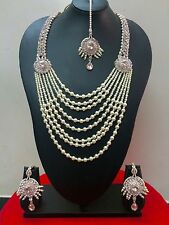 Indian Designer Bollywood Rose Gold Plated Fashion Jewelry Necklace Set