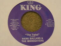 "HANK BALLARD & THE MIDNIGHTERS Teardrops On Your Letter / The Twist 7"" 45 re EX"