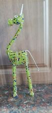 Giraffe Handcrafted Namibian / African Beaded Wire Animal Sculptures Africa Gift