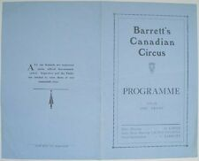 1929 GEORGE BARRETT'S CANADIAN CIRCUS TRAVELLING YORKSHIRE BASED BIG TOP & ZOO
