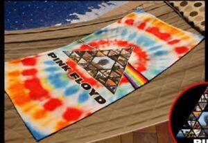 New Pink Floyd Tie Dye Prism Beach Bath Pool Gift Towel Cotton Syd Barrett Photo