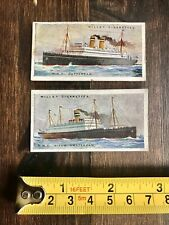 Cigarette Cards - Holland-America Line NASM SS Rotterdam and SS Nieuw Amsterdam
