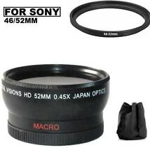 52mm Digital Wide Angle Lens for Sony HDR-CX430V HDR-PJ430V HDR-PJ810 HDR-PJ540