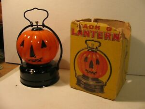 Vintage Halloween Battery Operated Jack O Lantern IOB - Made in Japan