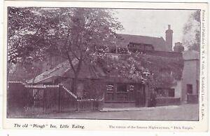 "THE OLD ""PLOUGH"" INN, LITTLE EALING - OLD LONDON POSTCARD (ref 7220/19 B02)"