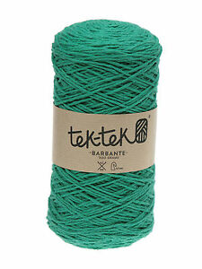 Crafting Cotton 6ply GREEN New Cotton Knit Crochet Weave 220m washable